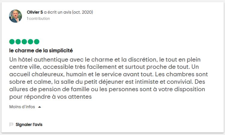 Tripadvisor Charme et Simplicite 2020-10